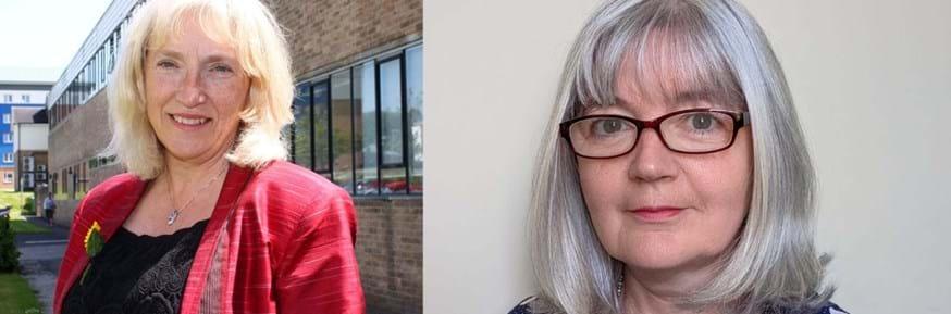 from left: Professor Sheila Payne and Professor Nancy Preston