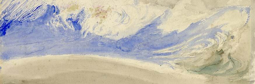 John Ruskin, Cloud Effect over Coniston Old Man © The Ruskin, Lancaster University