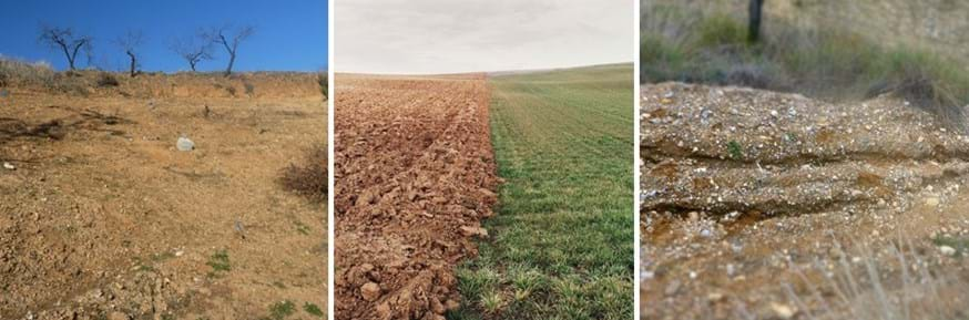 Soil erosion under different types of land use and land management practices