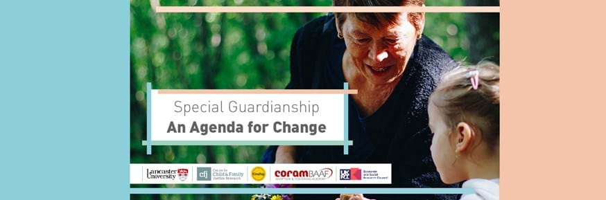 Older lady with little girl with logos of all partners in the article and the logo for the 'An Agenda for Change' event