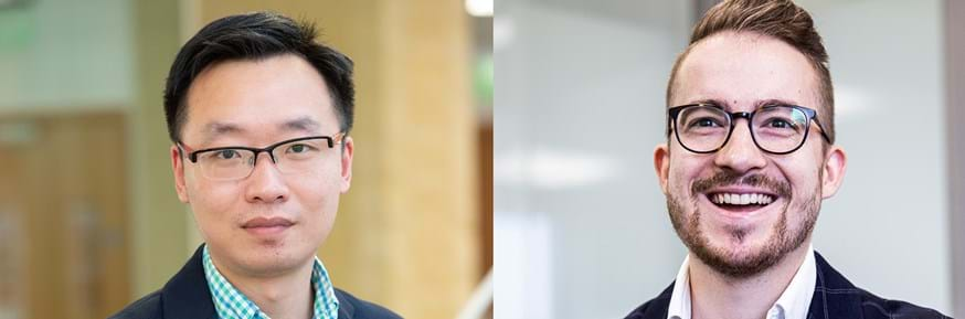 Lancaster University Management School Lecturer Dr Ruilin Zhu (left) and Strive UK Chief Strategy Officer and co-founder Ivan Muck (right)