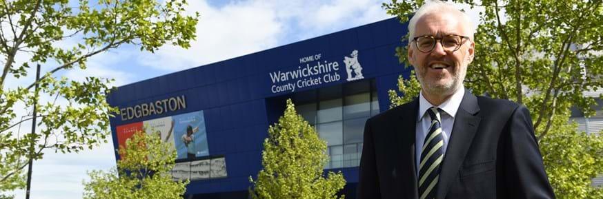 Lancaster University Management School Alumnus Stuart Cain, CEO of Warwickshire CCC