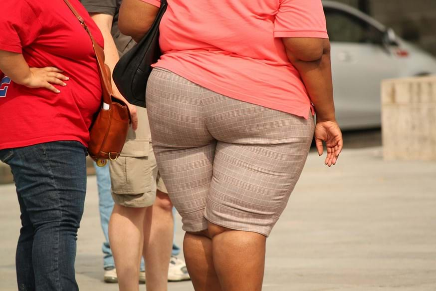 An overweight lady