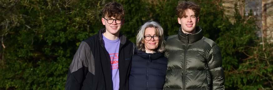 Professor Gail Whiteman with sons Max and Brix